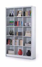 White Cube Bookcase Shelf Tall Bookshelf Storage Display Unit Office Furniture 3
