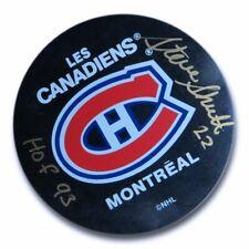 "Steve Shutt Signed Autographed NHL Puck Montreal Canadiens ""HOF 93"" w/COA"