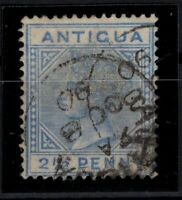 P130553/ ANTIGUA / SG # 27a USED VARIETY ''LARGE 2 IN 2 ½'' CV 300 $