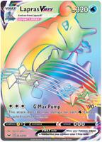 Pokemon Lapras V MAX PTCGO Sword & Shield 203/202