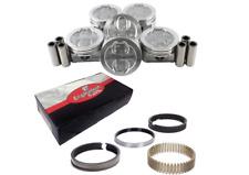 Dish Pistons Set w/ Moly Rings for 1992-2013 Chevrolet 4.3L V6 Vortec VIN W X