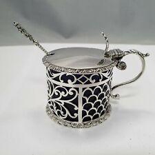 Arts & Crafts Konfitürenglas  / Saliere Sterling Silber 925 London 1910 punziert