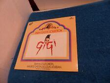 """Brand New Laser Disc """" Gigi """" Stars Leslie Carson, Maurice Chevalier"""