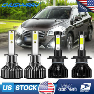 For Suzuki Forenza 2004-2008 H7 & H1 LED Headlight Combo 6000K White Bulbs USA