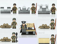 8pcs Minifigures German Army Soldier Weapons Building Blocks Toy Boys' Gift