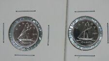 1976 & 1977 Specimen 10 Cents Canadian from Prestige Set
