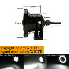 "3""LED White COB Projector Fog Driving Lamp Angel Eye Halo Ring DRL Daytime Light"