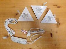 Unterbauleuchten - Set   3 x 20 W in weiß incl Verbindungskabel und Trafo