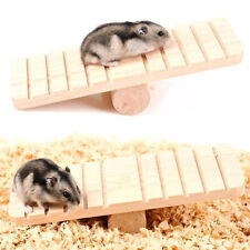 New listing Hamster Wood Seesaw Non-slip Molar Sports Exercise Toy Chinchillas Pet Supplies~