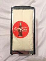 1992 COCA-COLA METAL NAPKIN DISPENSER HOLDER 1950s STYLE HAVE A COKE VINTAGE