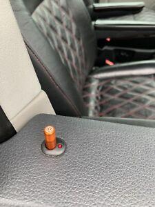 VW Door Lock Pins Custom Upgrade Alloy Orange T5 T5.1 T6 Golf Beetle Polo