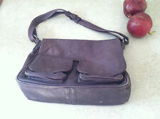 Vintage CUIR Paris France Lamb Leather Shoulder Handbag Soft Supple Purple MED