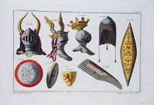 Ritter Rüstung Helm Schild Kettenhemd Mittelalter Krone Gold bouclier casque