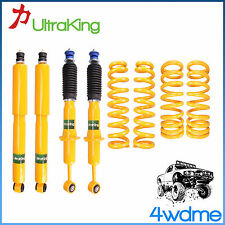 Mitsubishi Pajero NM MP NS NT Front & Rear Shocks + KING Coil Springs Lift Kit