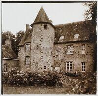 Manoir Da Villeray Francia Foto Stereo PL59L15n1 Placca Da Lente Vintage c1920