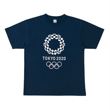 2020 Tokyo Olympic Games Official Unisex Cropping Back Print T-shirt Navy XL