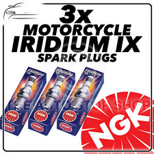 3x NGK Iridium IX Spark Plugs for KAWASAKI 350cc S2, S2A (Mach II) 72->73 #5687