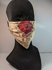 Harry Potter - Handmade Fabric Face Mask W/ Filter Pocket & Wire - large