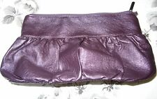 H&M purple and Superdrug Lilac toiletries bags