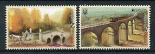 Ukraine 2018 MNH Bridges Europa 2v Set Bridge Architecture Stamps