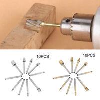 10Pcs/Set HSS Titanium Dremel Routing Rotary Milling Rotary File Cutter Wood CH
