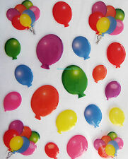 20 PAPER CELLAR MULTI COLOURED BALLOON, CARD CRAFT BUBBLE STICKERS, STK/03/0048