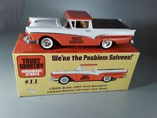 Spec Cast Trustworthy Hardware 1957 Ford Ranchero Coin Bank 1/24 Scale