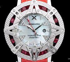 New Xoskeleton Superlative Star Ladies Swiss 8 Genuine Red Ruby Gemstones Watch