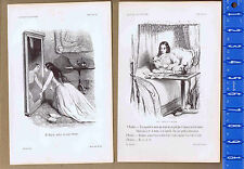Actresses, Lorette, Longshoremen -1845 Paul Gavarni Engraved Illustrations