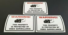 3 Security Camera CCTV Surveillance Warning Stickers High Quality Home Office