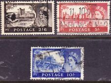 Great Britain 1963 Castles 3 Stamps as Scan F115