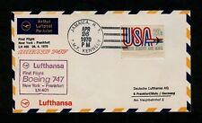Lufthansa First Flight 401 APR 26 1970 NYC Kennedy to Frankfurt Germany. Pretty