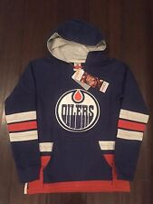 Edmonton Oilers NEW Youth Medium Lace Hooded Sweatshirt . NHL Hockey Boy Girl