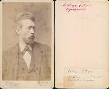 Arthur Fitger, maler und dichter CDV vintage albumen carte de visite,Arthur He