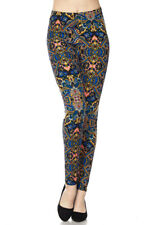 ONE SIZE  Leggings TC/OB006 Buttery Soft Always Brushed Black Multi Color