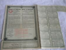 Vintage share certificate Stock Bonds action Roumania consolidation loan 1928