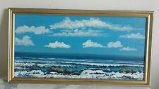 Beautiful Swedish  painting Sea  signed Hans Lindberg  nice frame