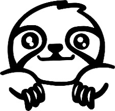 Sloth Decal Vinyl Sticker Macbook Laptop Car Window BLACK OR WHITE!