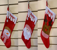 Personalised Xmas Stocking Christmas  Santa Reindeer Snowman  stocking