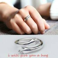 Adjustable Fashion Hug Shape Engagement Ring Gift for Couple Lover Friends Gifts