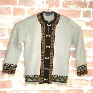 Nordstrikk  Virgin Wool Cardigan Norway Clasp Sweater  UniSex