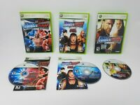 Xbox 360 Smackdown Vs Raw Lot of 3 2007 2008 2009 Tested and Working!