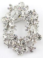 Dazzling Bridal Wedding Brooch Pin Clear Fine Austrian Rhinestone Crystal