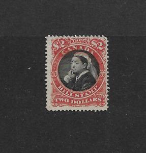 1868 CANADA  - $2 VICTORIA BILL STAMP - HIGH VALUE - MINT?