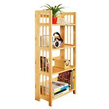 Shelf Unit, 4 Tier Tropical Hevea Wood, Folding