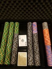 Horseshoe Cleveland casino poker chip 20 person 10k tournament set! Real clay...