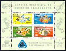 Brazil 1969 Fish/Marine/Nature/Wildlife 4v m/s (n29444)