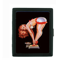 Metal Cigarette Case Holder Box Pin Up Girl Design-004