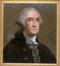 c. 1820, Reverse Painting of George Washington on Glass