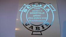 Aufkleber in Chrom Folie 200x188 mm groß SCANIA VABIS LKWs werden in ....
